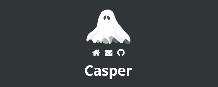 Casper, a port of Ghost's super-minimal Casper theme to WordPress