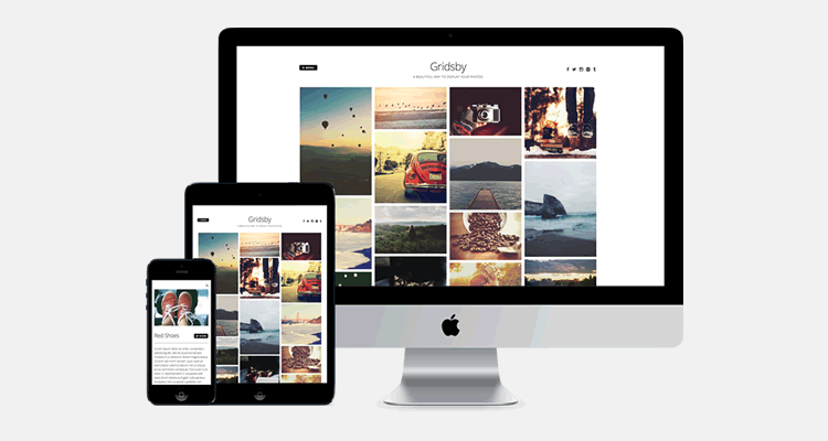 Gridsby Pinterest-style photo blogging wordpress theme creatives
