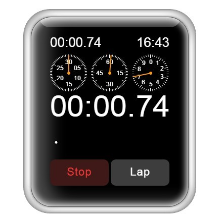 Interactive Apple Watch Lap Timer Stopwatch
