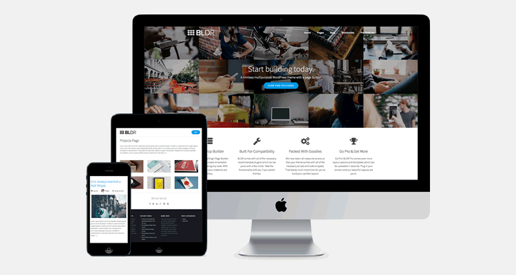 BLDR multi-purpose WordPress theme page builder