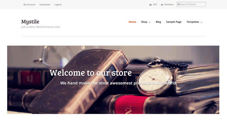 Mystile clean fast speedy bare-bones WooCommerce theme