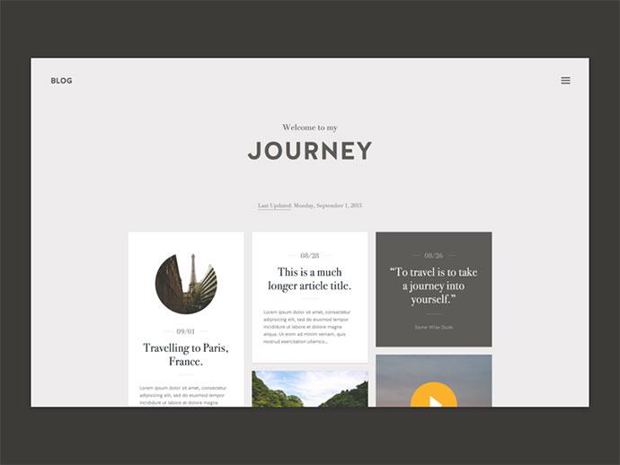Journey - Blog Theme