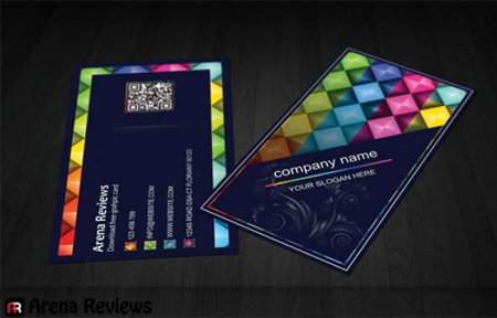 Colorful-shapes-business-card-template