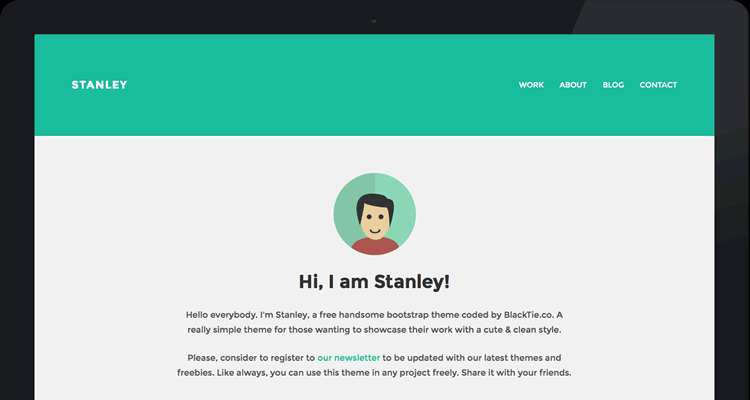 StanleyWP flat theme designer work simple beautiful
