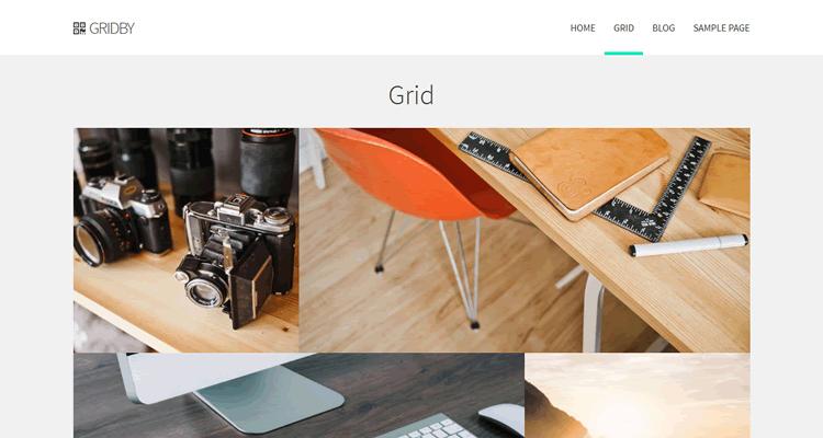 Gridby free Bootstrap WP theme creatives portfolio