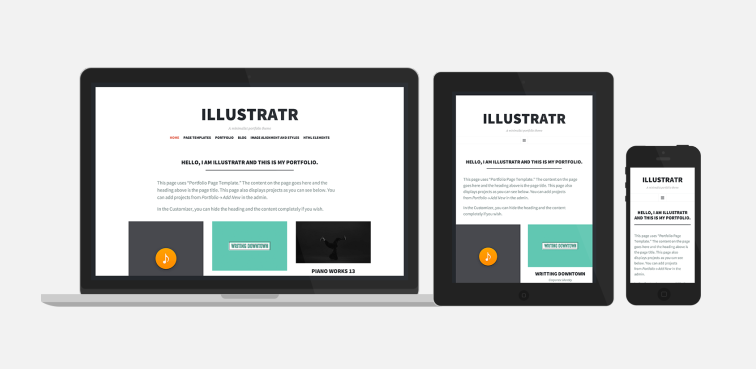 Illustratr, a super-minimalist portfolio theme