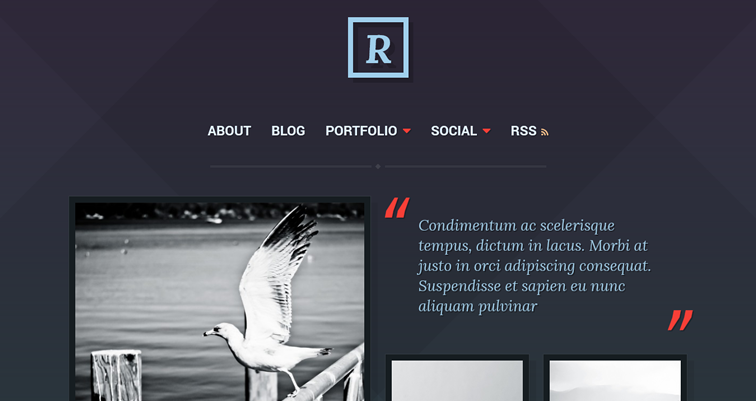 Ravel, a clean and dark theme for portfolio and professional profile sites