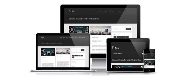 freebies designers web Nova WordPress Theme Tumblog-style