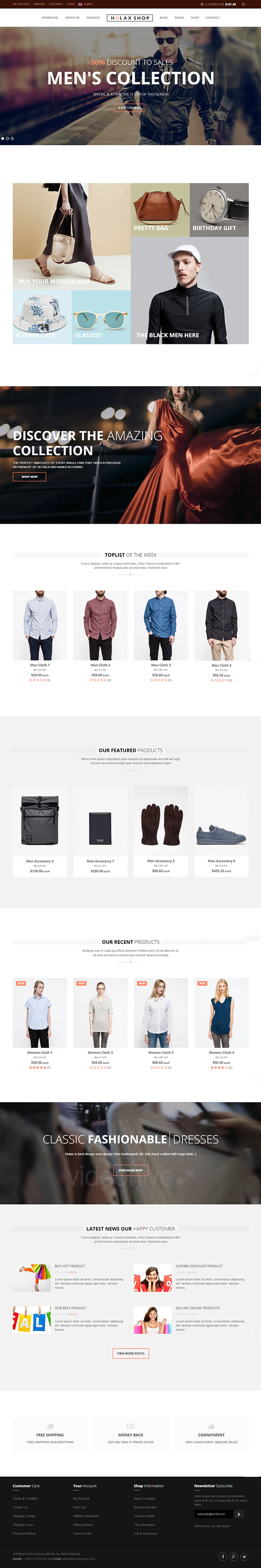 Holax - Multipurpose HTML eCommerce Template