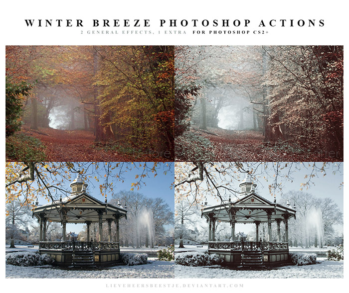 Winter Breeze Photoshop Actions