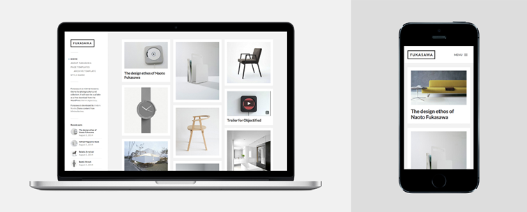Fukasawa, a minimal masonry blog theme for photographers
