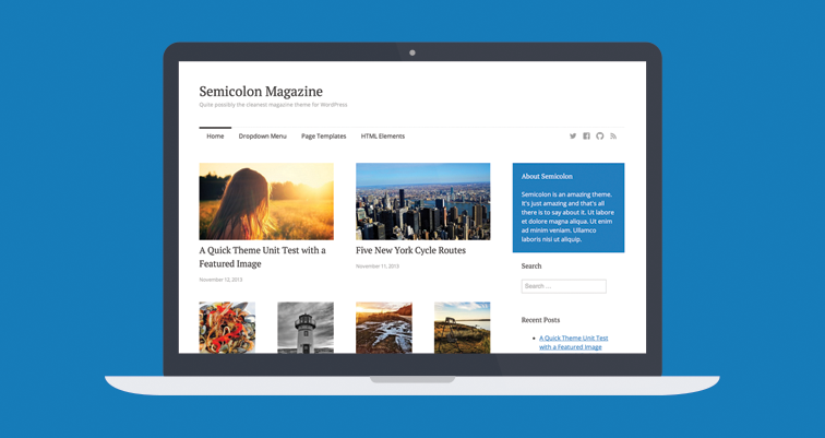Semicolon, a simple and clean magazine theme for WordPress