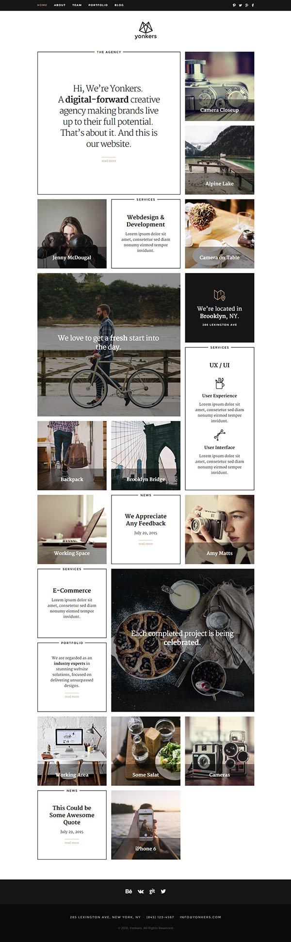 Yonkers – Responsive Retina-Ready HTML5 Portfolio