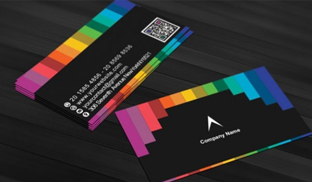 Black-business-card-with-rainbow-stripes