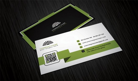 Four-business-cards-template