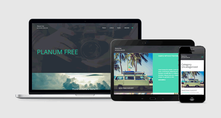 Planum full-screen theme wordpress free blogging