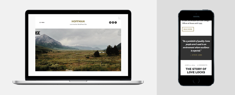 Hoffman, a stylish and minimal WordPress theme for bloggers