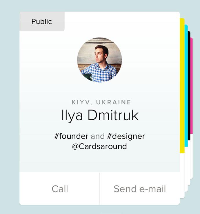 Profile Cards iOS App Animation