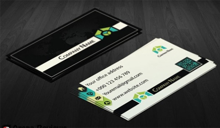 Corporate-business-card-in-black-and-white