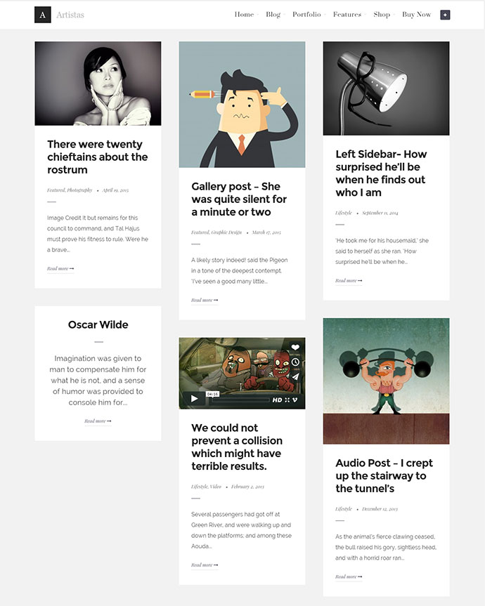 Artistas WordPress Themes