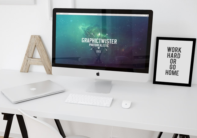 Workspace Mockup PSD Template