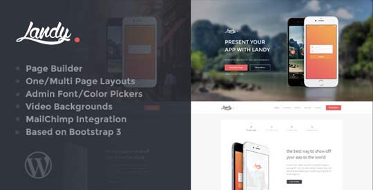 33 High Quality Landing Page WordPress Themes