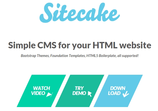 Sitecake: A Simple CMS for HTML Websites
