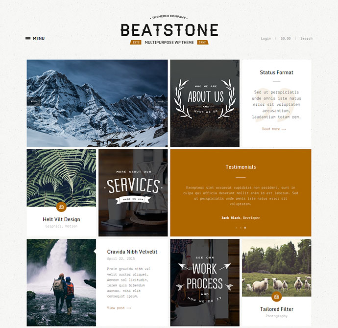 25 Beautiful Card-Based WordPress Themes