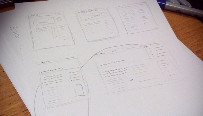 responsive blog sketch paper ui