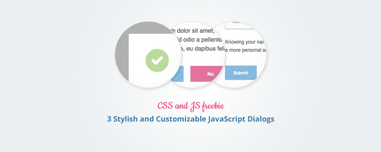 Stylish and customizable JavaScript dialogs