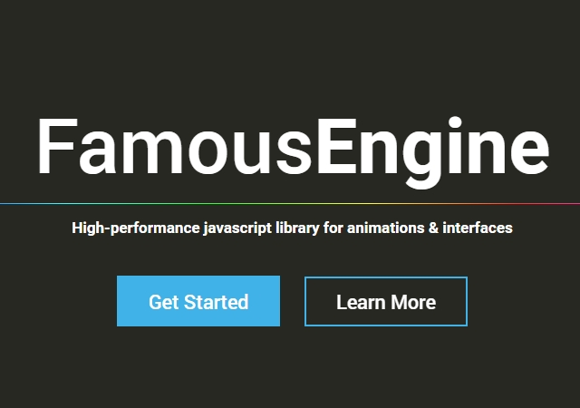 Famous: JavaScript Library for Animations & Interfaces