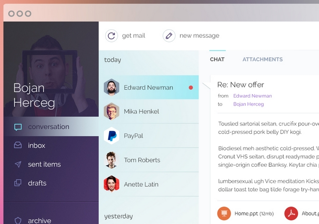 Mail Client Mockup PSD Template