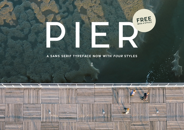 Pier Sans: A Complete Typeface with 4  Styles