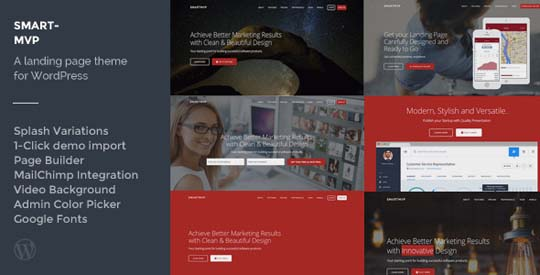 5.wordpress landing page theme