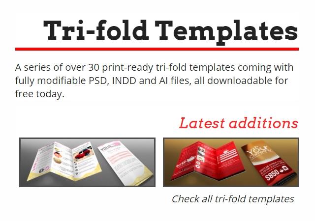 20 Free Professional Tri-fold Print Templates