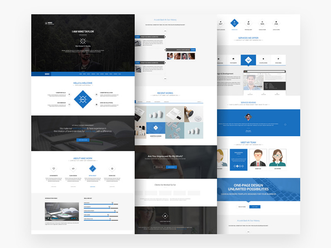 Business website templates psd free download geccetackletarts free download clean one page website template psd idevie business wajeb Choice Image