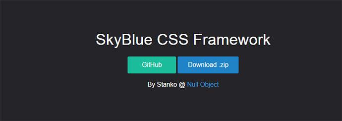 skyblue css framework