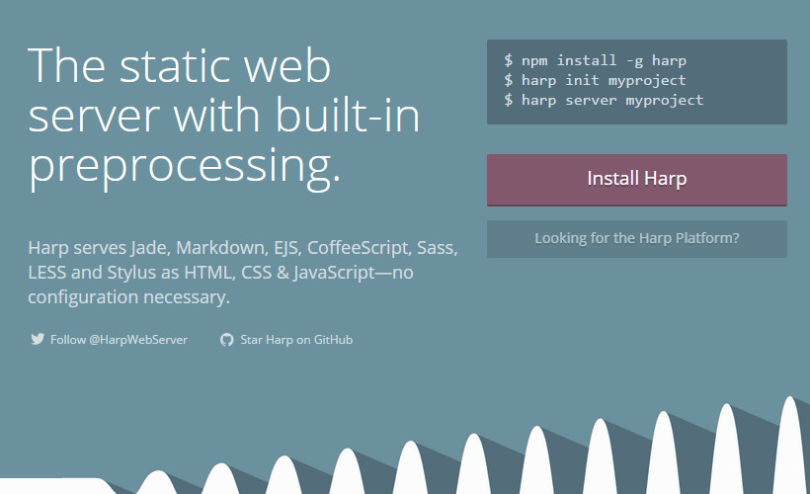 Harp: Static Web Server with Built-in Preprocessing