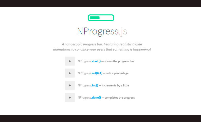 NProgress: JavaScript Slim Progress Bars