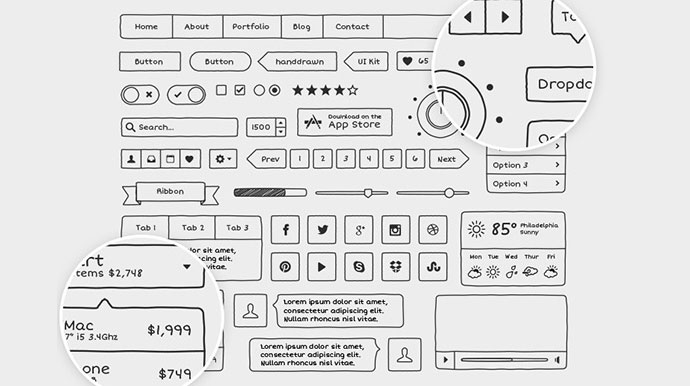 Hand Drawn Vector UI Kit