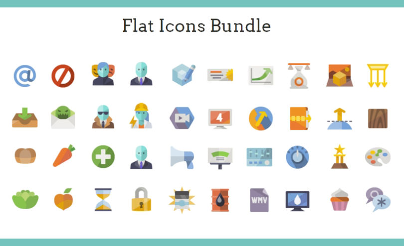 A Massive Collection of 20 Categories of Flat Icons Sets