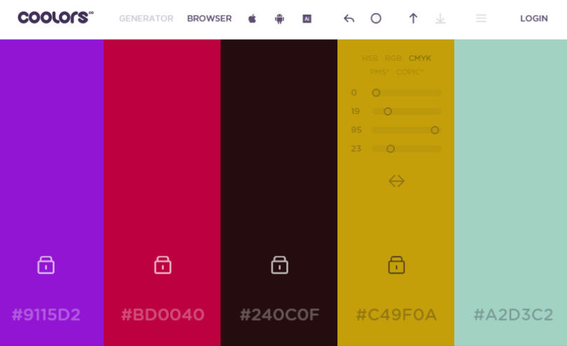 Coolors: Cross-platform Color Schemes Generator