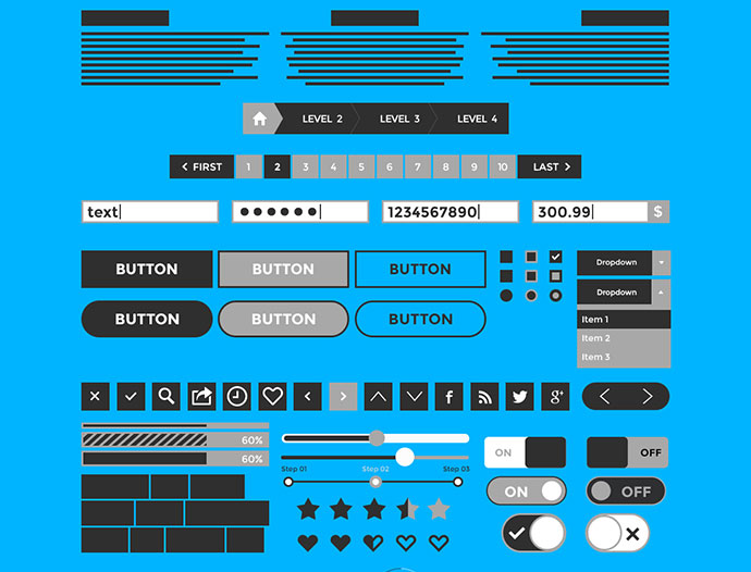 Wireframe & Mockup UI Kit