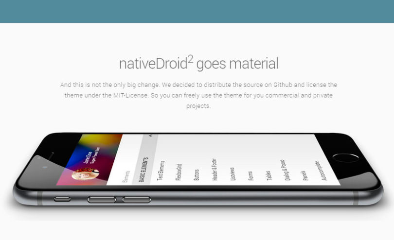 NativeDroid2: JQuery Mobile Material Design Theme