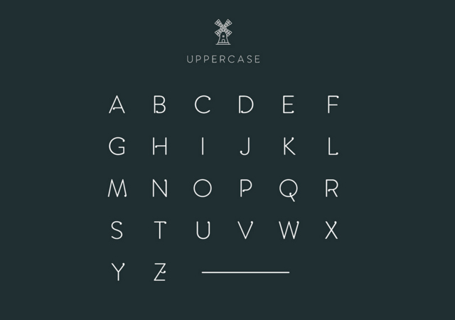 Amsdam: Drop-decorated Typeface