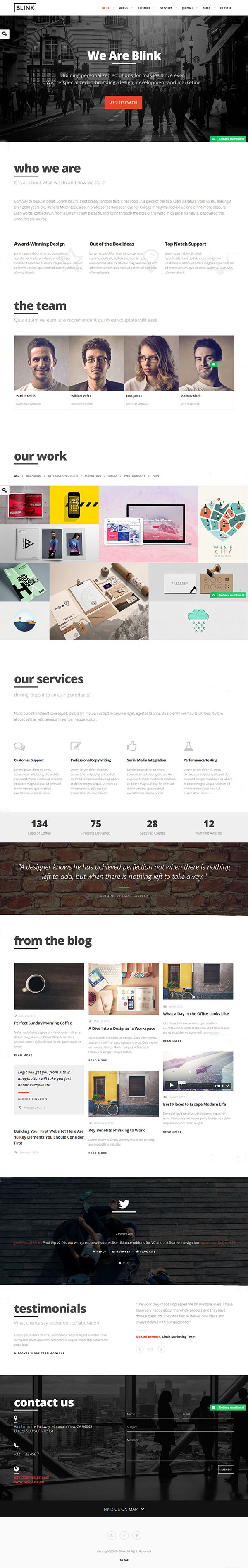 Blink - Parallax One Page WordPress Theme