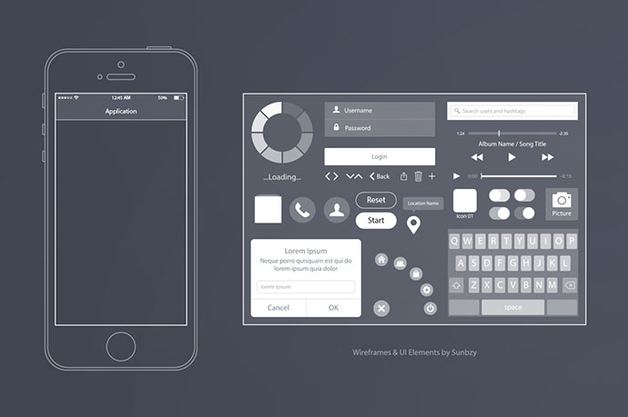 Wireframe & UI Elements