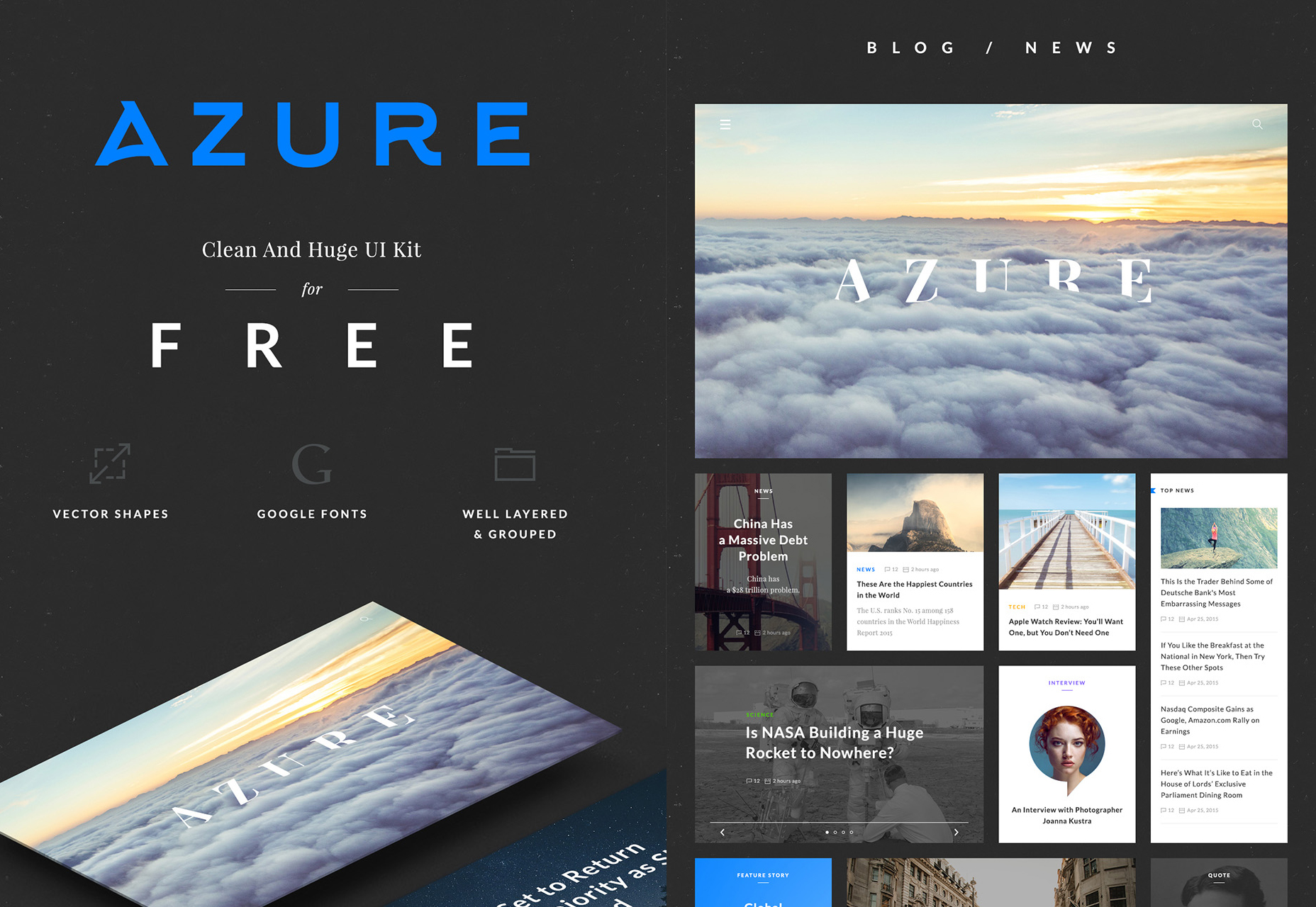 Azure Free UI Kit