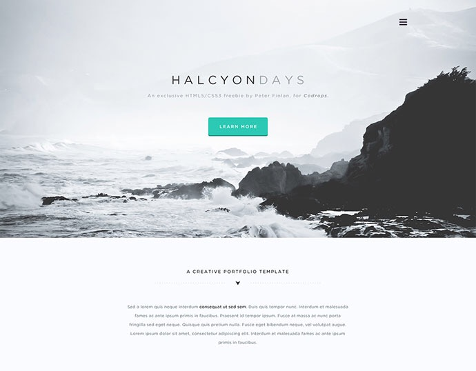 20 Minimalist PSD Website Templates