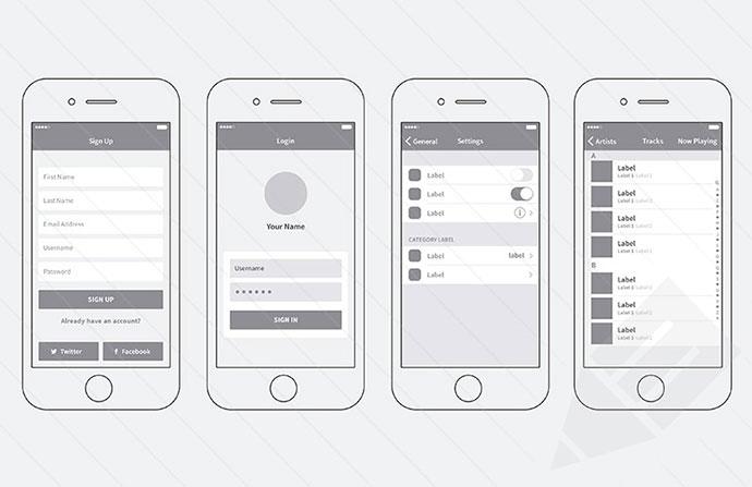 iPhone App Wireframing Kit